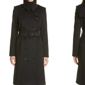 Burberry prorsum black trench coat